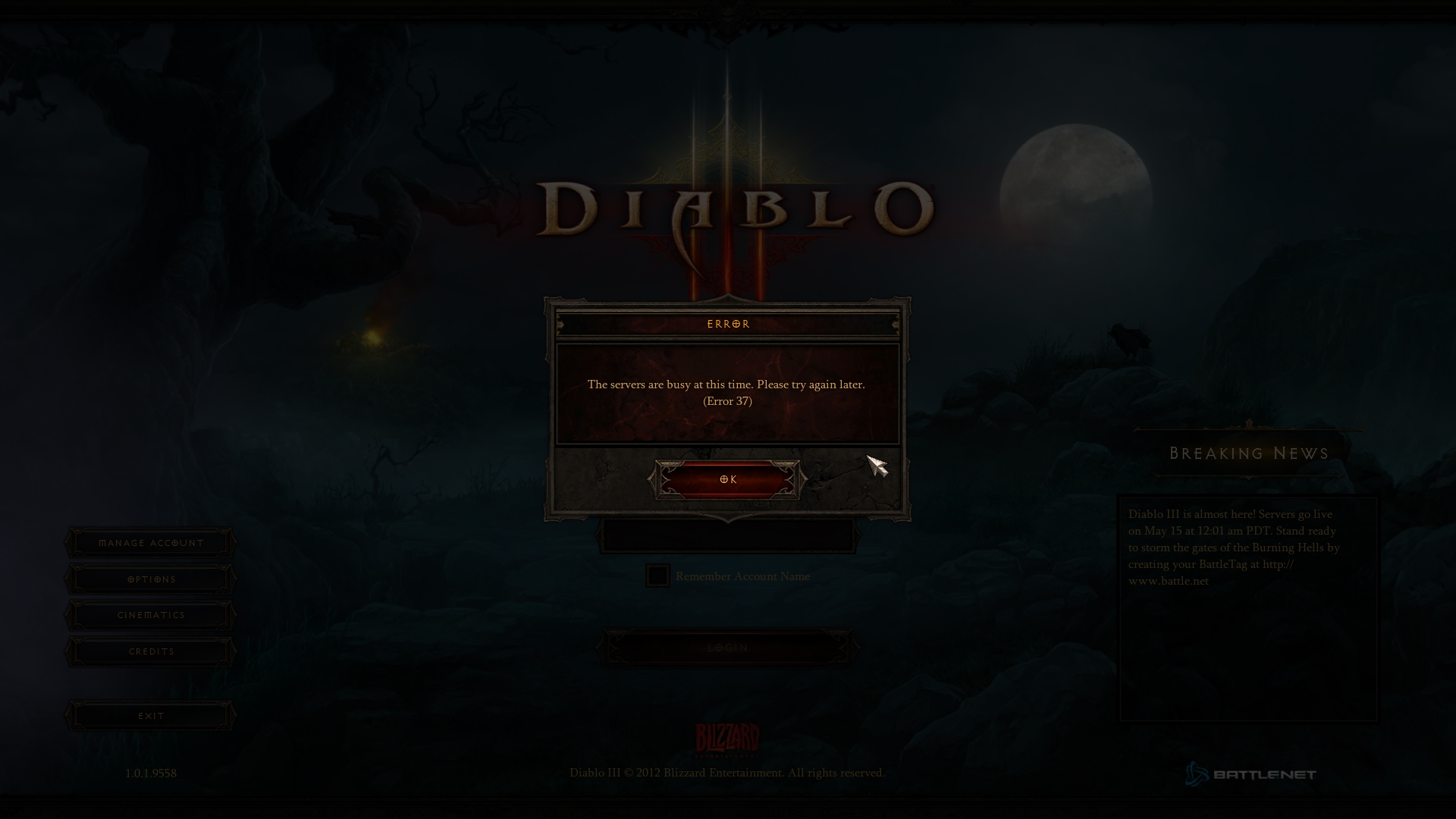 Diablo 3 Launch